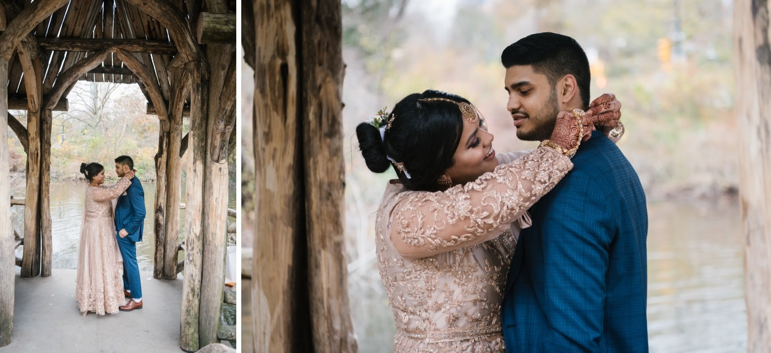 Wagner Cove wedding in Central Park NYC. Photos by NYC elopement photographer Everly Studios
