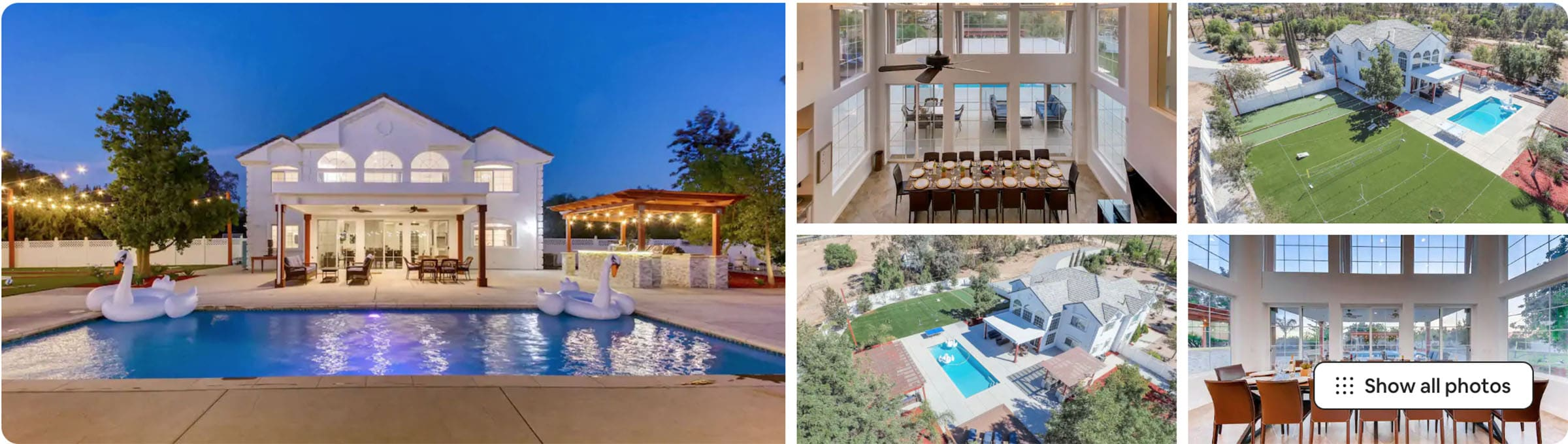 Temecula mansion - airbnb wedding venues in California wine country
