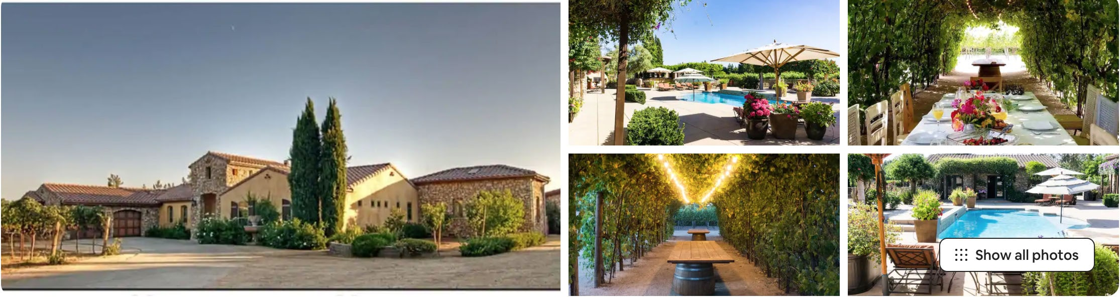 Northern California Airbnb wedding venue Villa Riposo