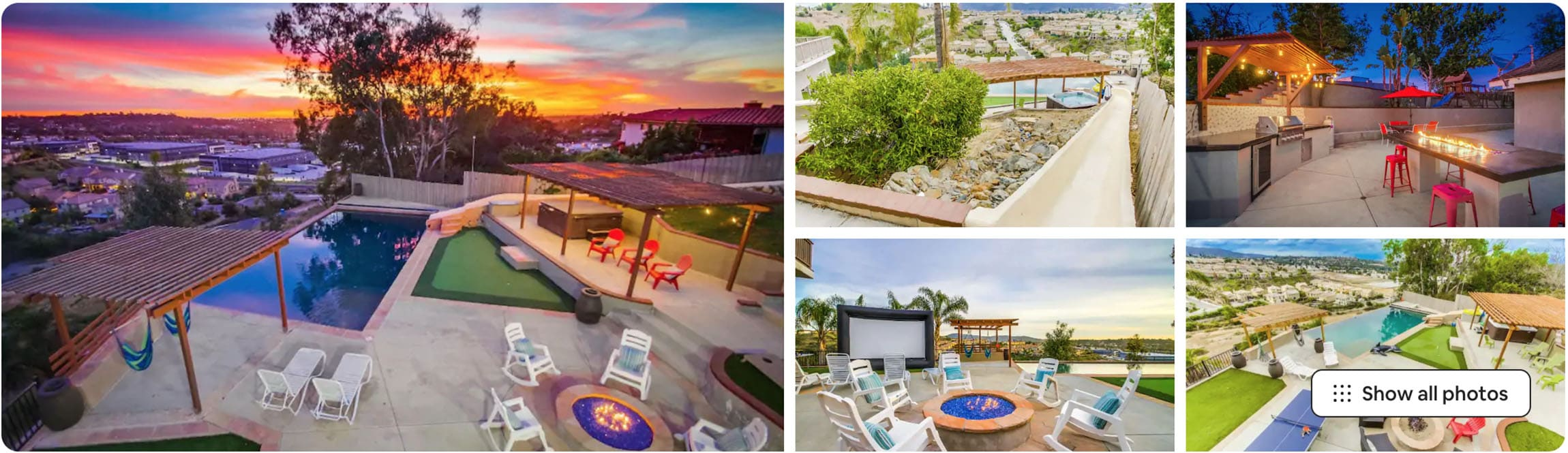 Vista pool home - airbnb wedding venues in southern california